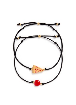 Main View - Click To Enlarge - Venessa Arizaga - 'Have A Pizza My Heart' bracelet set