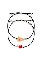 'Have A Pizza My Heart' bracelet set