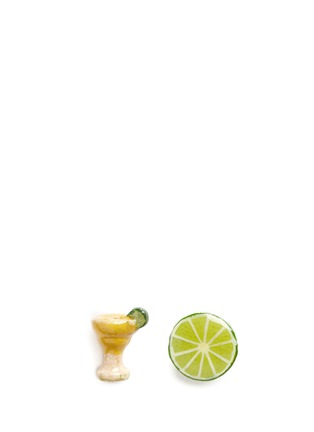 Main View - Click To Enlarge - Venessa Arizaga - 'Margarita Lime' stud earrings