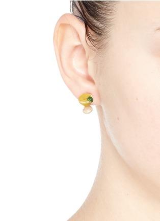 Figure View - Click To Enlarge - Venessa Arizaga - 'Margarita Lime' stud earrings