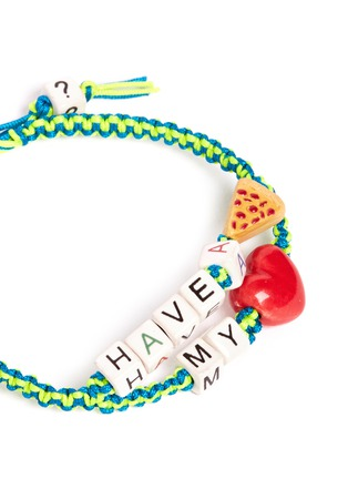 Detail View - Click To Enlarge - Venessa Arizaga - 'Have A Pizza My Heart' bracelet