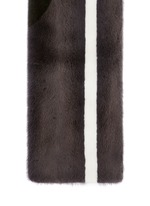 'Skol' stripe panelled mink fur scarf