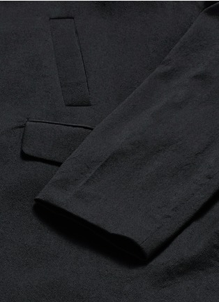 Detail View - Click To Enlarge - Song for the Mute - Vertical pocket raglan sleeve wool-silk coat