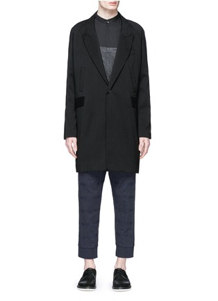 Main View - Click To Enlarge - Song for the Mute - Vertical pocket raglan sleeve wool-silk coat