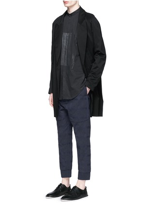 Figure View - Click To Enlarge - Song for the Mute - Vertical pocket raglan sleeve wool-silk coat
