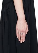 'Move Noa Or' diamond 18k white gold ring