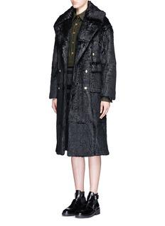 JINNNNLaminated rabbit fur coat