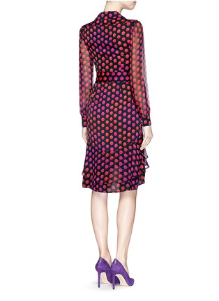 Back View - Click To Enlarge - DIANE VON FURSTENBERG - 'Catherine Two' polka dot silk chiffon wrap dress