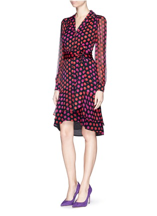 Front View - Click To Enlarge - DIANE VON FURSTENBERG - 'Catherine Two' polka dot silk chiffon wrap dress