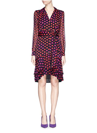 Main View - Click To Enlarge - DIANE VON FURSTENBERG - 'Catherine Two' polka dot silk chiffon wrap dress