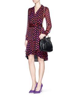 DIANE VON FURSTENBERG'Catherine Two' polka dot silk chiffon wrap dress