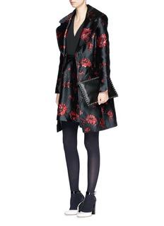 DIANE VON FURSTENBERG'Brayden' rose daze jacquard belted coat