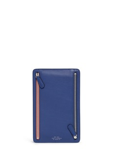 SMYTHSON Atlas perforated leather currency case