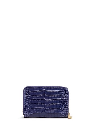 Smythson-Mara croc effect leather coin purse