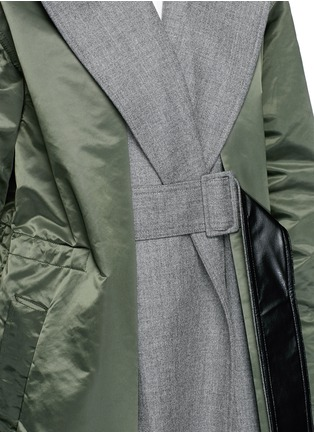 Detail View - Click To Enlarge - TOGA ARCHIVES - Wool insert nylon trench coat