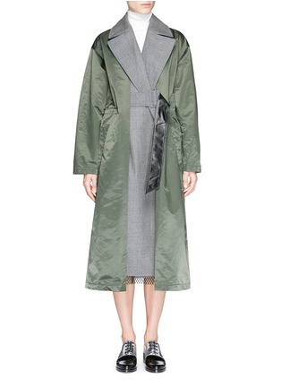 Main View - Click To Enlarge - TOGA ARCHIVES - Wool insert nylon trench coat
