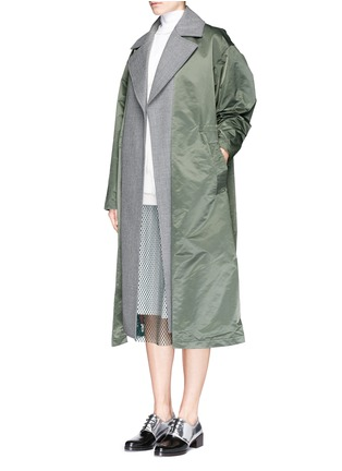 Figure View - Click To Enlarge - TOGA ARCHIVES - Wool insert nylon trench coat