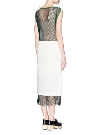 Back View - Click To Enlarge - TOGA ARCHIVES - Skirt overlay patchwork mesh dress