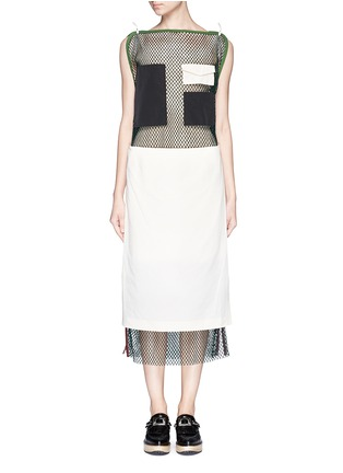 Main View - Click To Enlarge - TOGA ARCHIVES - Skirt overlay patchwork mesh dress