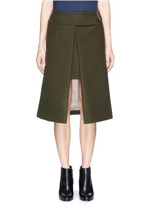 Main View - Click To Enlarge - SACAI LUCK - Wool felt wrap skirt