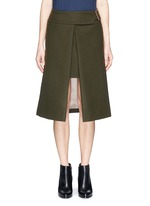 Wool felt wrap skirt