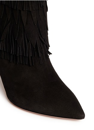 Detail View - Click To Enlarge - Aquazzura - 'Sasha' suede fringe ankle boots