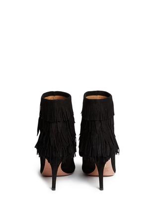 Back View - Click To Enlarge - Aquazzura - 'Sasha' suede fringe ankle boots