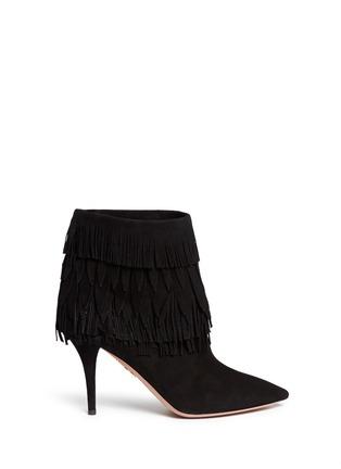 Main View - Click To Enlarge - Aquazzura - 'Sasha' suede fringe ankle boots