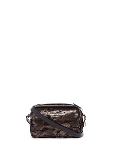 JIMMY CHOO 'Opal' camouflage leather suede crossbody bag