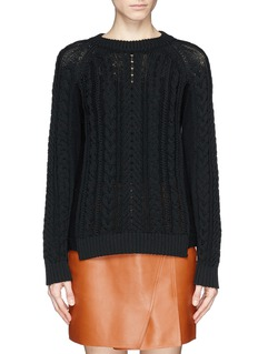 RAG & BONE 'Nala' contrast cable knit sweater