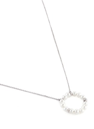 Bao Bao Wan - Diamond pearl hoop necklace