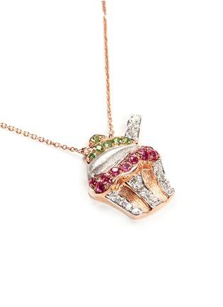 Figure View - Click To Enlarge - Bao Bao Wan - Diamond rose gold cupcake necklace