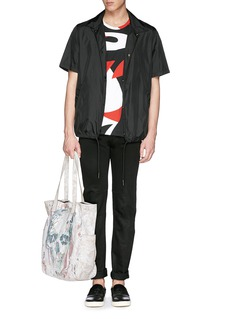 Alexander McQueen Abstract print cotton jersey T-shirt