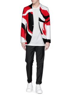 Alexander McQueenAbstract print cotton blazer
