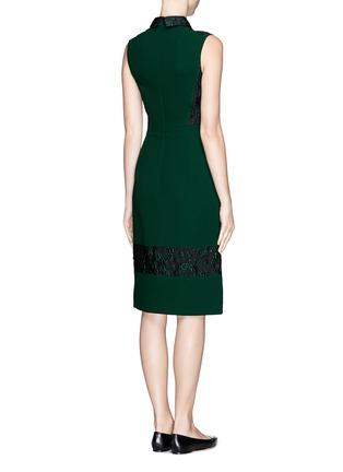 Back View - Click To Enlarge - ERDEM - 'Faldo' wool crepe floral jacquard dress
