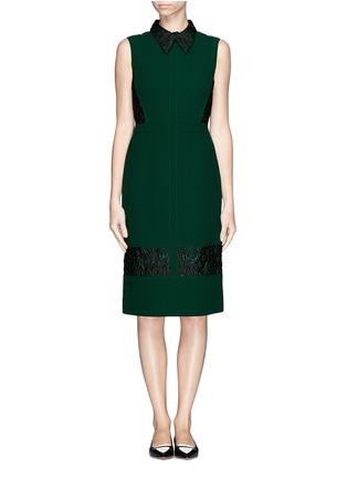 Main View - Click To Enlarge - ERDEM - 'Faldo' wool crepe floral jacquard dress