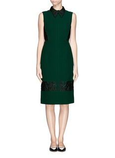 ERDEM 'Faldo' wool crepe floral jacquard dress