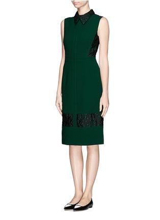 Figure View - Click To Enlarge - ERDEM - 'Faldo' wool crepe floral jacquard dress