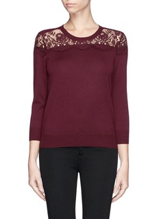 ERDEM 'Manon' lace merino wool sweater