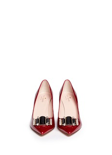 KATE SPADE 'Jaylee' jewel patent leather pumps