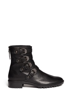 STUART WEITZMAN 'Jitterbug' leather buckle boots