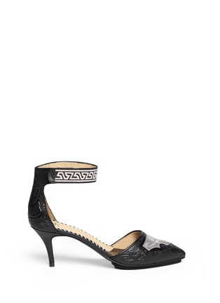 TOGA ARCHIVES - Floral embossed leather d'Orsay pumps