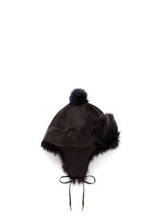 KARL DONOGHUEToscana lambskin shearling pompom trapper hat