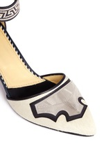 Pony hair embossed leather d'Orsay pumps