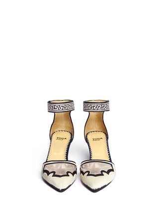 Figure View - Click To Enlarge - TOGA ARCHIVES - Pony hair embossed leather d'Orsay pumps