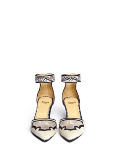 TOGA ARCHIVES Pony hair embossed leather d'Orsay pumps