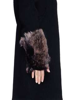 KARL DONOGHUE Old cuir Toscana lambskin fingerless gloves