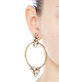 Erickson Beamon'Together Forever' gold vermeil Swarovski crystal hoop earrings
