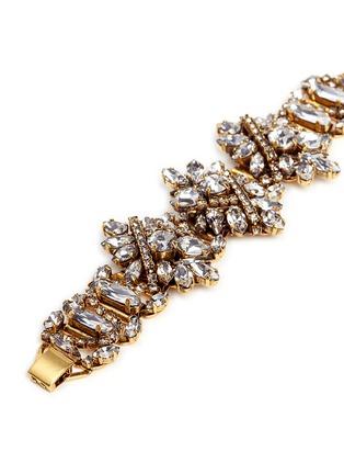 Detail View - Click To Enlarge - Erickson Beamon - 'Parlor Trick' 24k gold plated Swarovski crystal bracelet