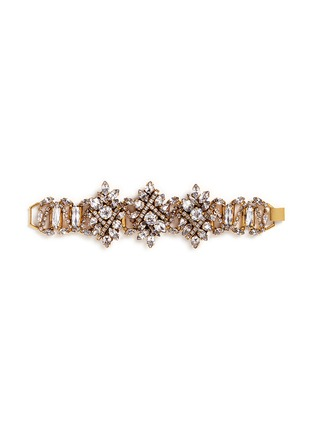 Main View - Click To Enlarge - Erickson Beamon - 'Parlor Trick' 24k gold plated Swarovski crystal bracelet